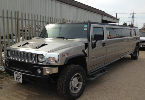 Gold Hummer H2 Limousine Welcome To Wildstretch