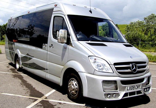 Silver mercedes party bus welcome to wildstretch for Mercedes benz party bus